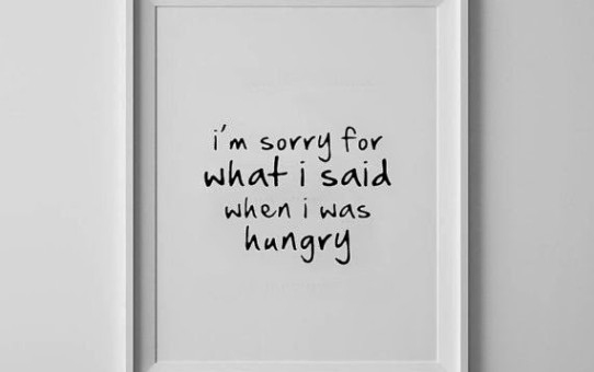 I'm sorry for what I said when I was hungry hangry etsy print picture