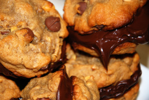 Peanut Butter Chocolate Chip Cookies Sandwiches