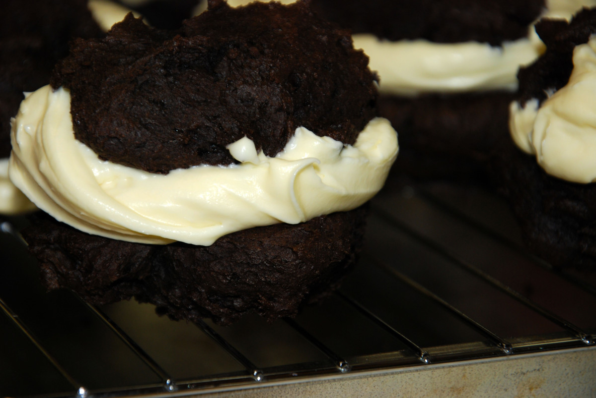 whoopie pies baked gluten free cookies chocolate vanilla delectably different kitchen
