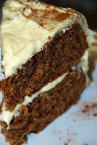 spiced up butterscotch cake frosted