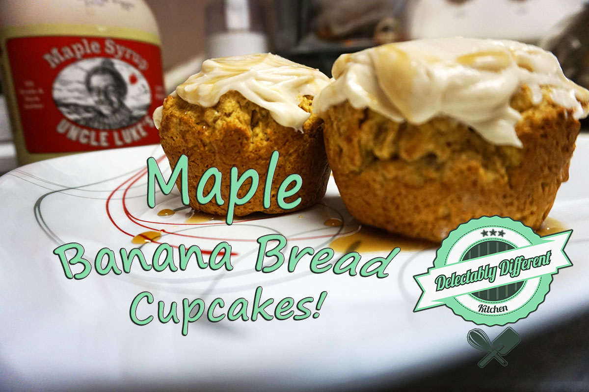 Vegan Maple Banana Bread Cupcakes