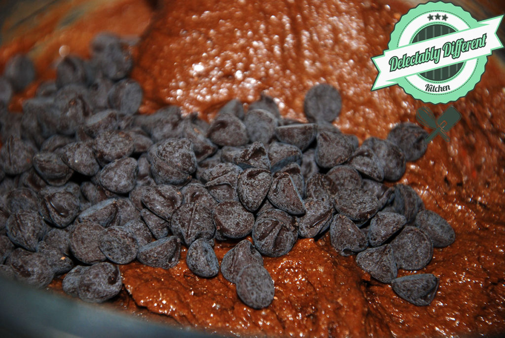 the perfect chocolate cake batter dark chocolate chips