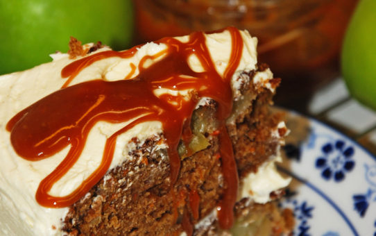Caramel Apple Carrot Cake