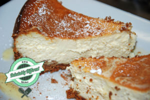 Eggnog Cheesecake pumpkin spice holiday baking without gluten