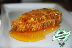 wildflower raw honey honeycomb baklava