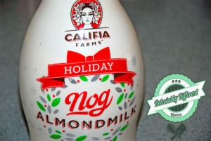 Califia Holiday nog Cake vegan eggnog