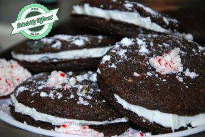 gluten-free Chocolate Peppermint Crème Sandwich Cookies