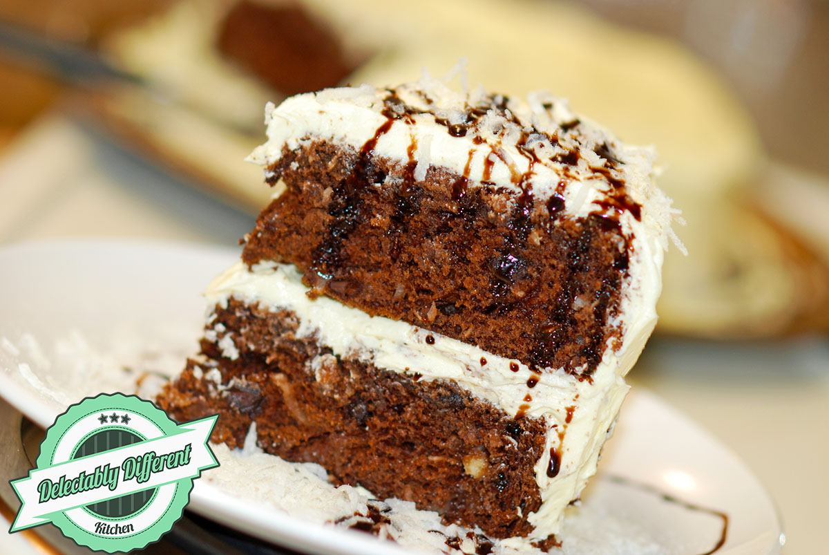 Double Chocolate Coconut Cake