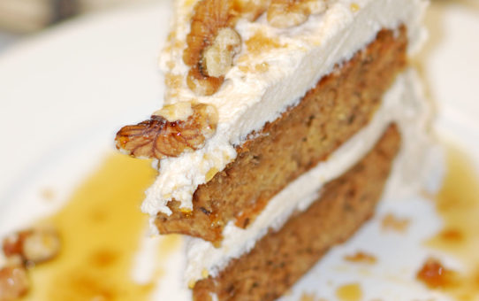 Maple Brown Sugar Walnut Cake Vegan Gluten-Free