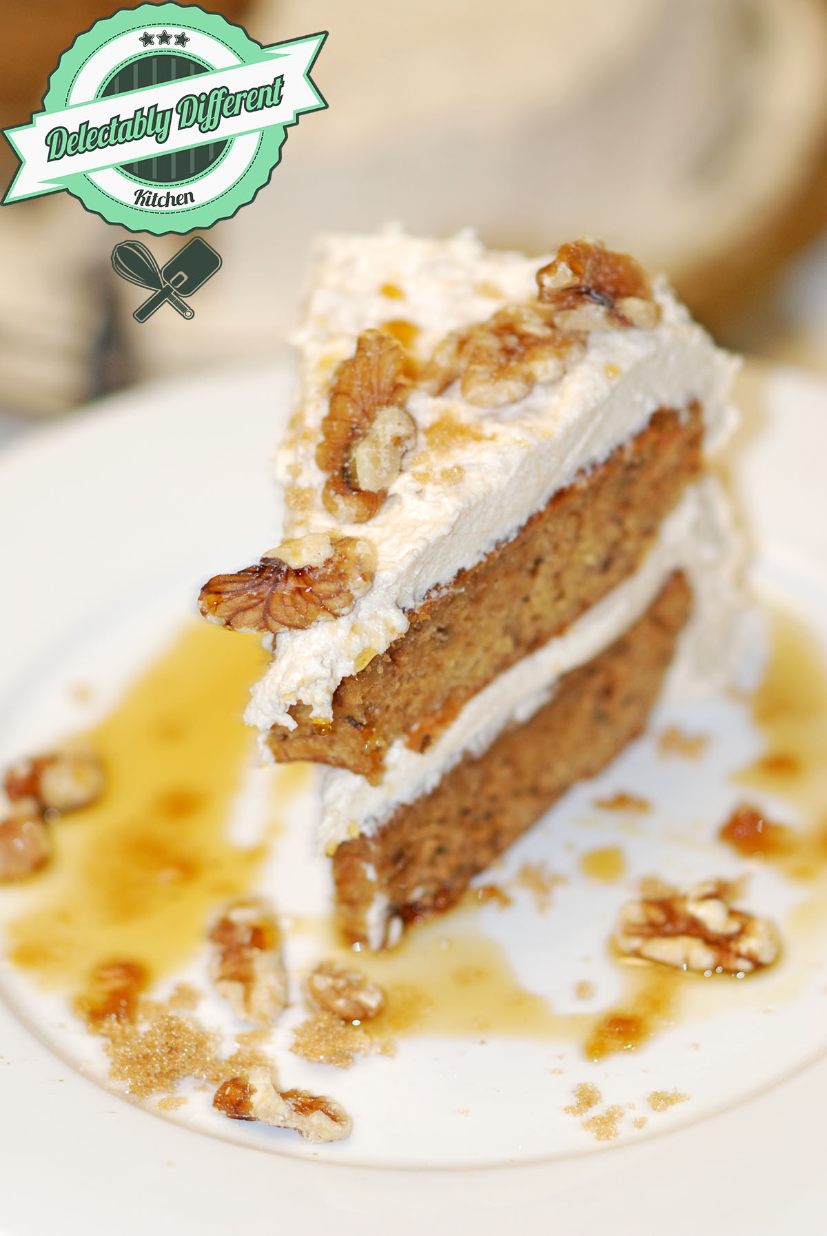 Maple Brown Sugar Walnut Cake