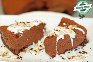 Chocolate Almond No Bake Cheesecake
